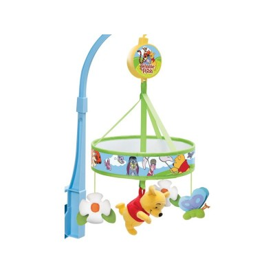 Winnie the Pooh Chasing Butterflies Cot Mobile