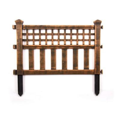 Bronze Plastic Fence Panels - Pack of 4