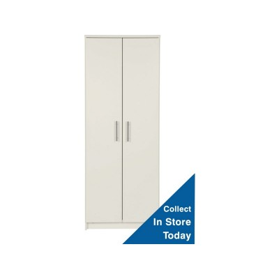 New Anderson 2 Door Wardrobe - White.