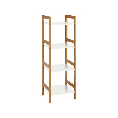 Habitat Drew 4 Shelf Bamboo Shelving Unit - White