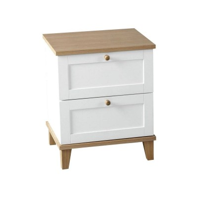 Arcola 2 Drawer Bedside Chest - White