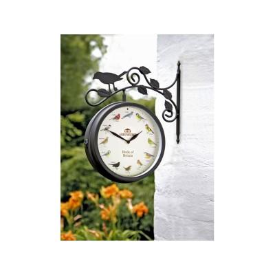 Bird Bracket Garden Clock and Thermometer