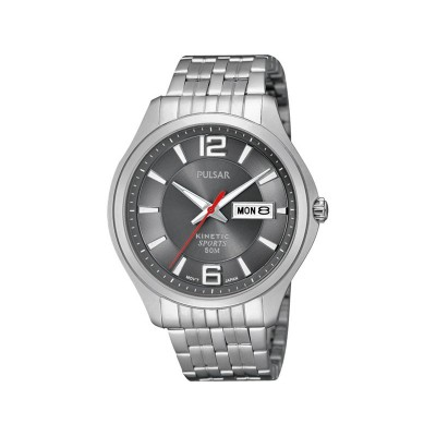PULSAR M CHARCOAL DIAL SS KINETIC WATCH