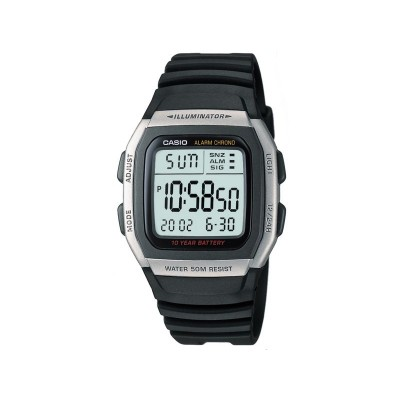 Casio Men's Digital LCD Black Resin Strap Watch