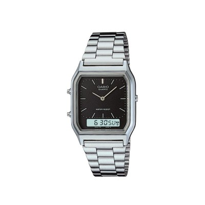 CASIO G AD BLK DIAL SS BLT