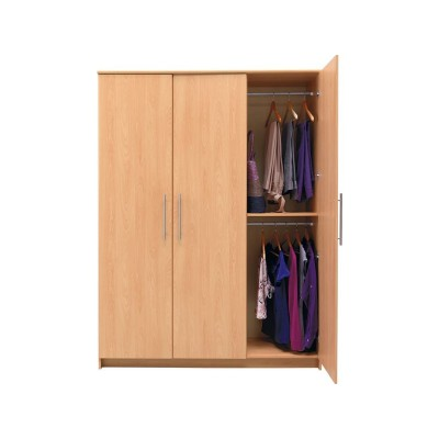 New Anderson Large 3 Door Wardrobe - Beech Effect.
