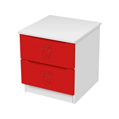 Man United Football Bedside Chest.