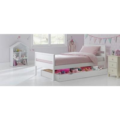 09H FARIS WHITE BED STORAGE FINLEY