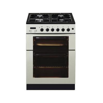 Baumatic BCG625IV 60cm Gas Twin Cooker - Cream