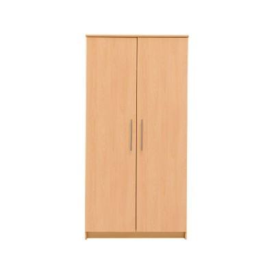 New Anderson Large 2 Door Wardrobe - Beech Effect.