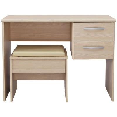 New Hallingford Dressing Table And Stool - Light Oak Effect.