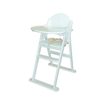 East Coast Nursery Folding Highchair - White