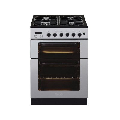 Baumatic BCG625SS 60cm Gas Twin Cooker - Stainless Steel