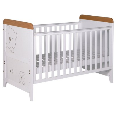 Tutti Bambini 3 Bears Cot Bed - Beech and White