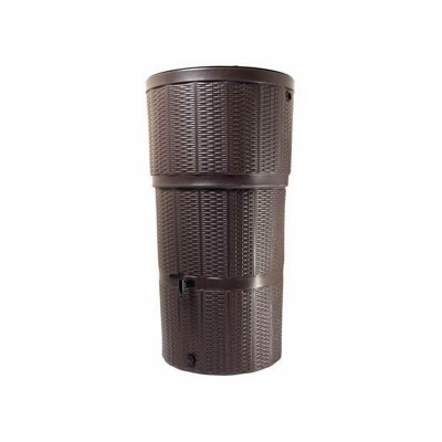 GARDEN 150 LITRE RATTAN WATER BUTT KIT