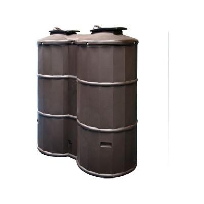 Polytank 1500 Litre Plastic Water Butt Kit - Oak