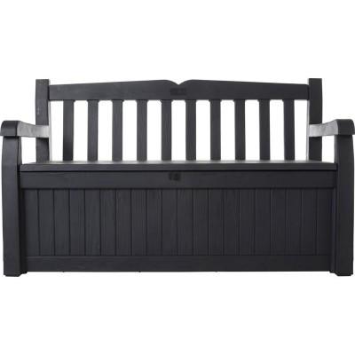 Keter Madison Wood Effect Storage Bench - Grey