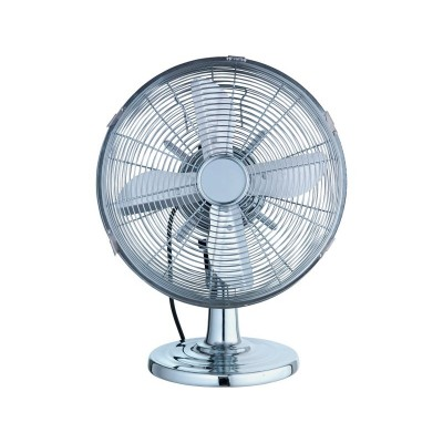 CHALLENGE 12 INCH CHROME OSC DESK FAN
