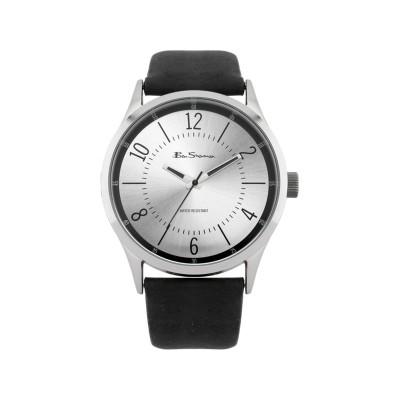 Ben Sherman Mens Black Strap Silver Dial Watch