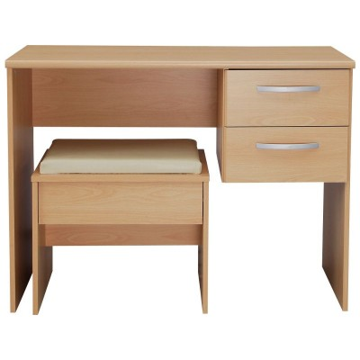Hallingford Dressing Table And Stool - Beech Effect.
