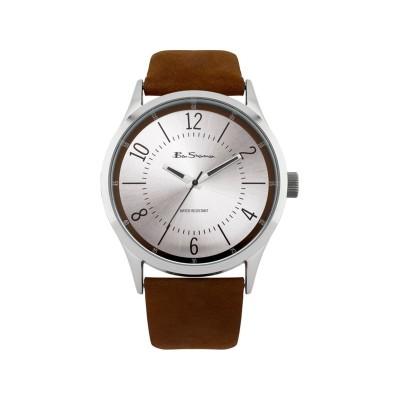 Ben Sherman Mens Brown Strap Silver Dial Watch