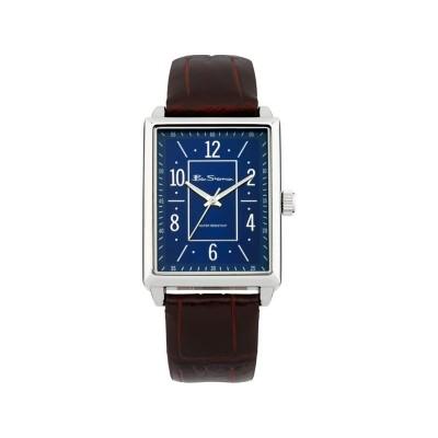 Ben Sherman Men's Brown Strap Blue Shaped Dial Watch