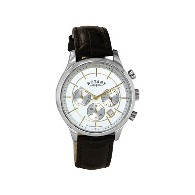 Rotary Men's Two Tone Brown Strap Watch
