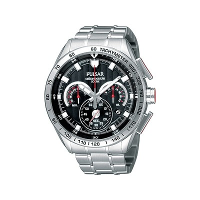 Pulsar Men's Stainless Steel Chronograph Bracelet Watch