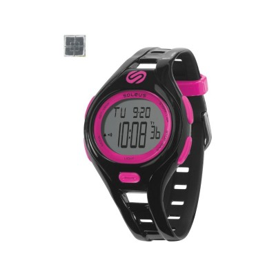 Soleus Dash Small Unisex Sports Watch - Black and Fuchsia