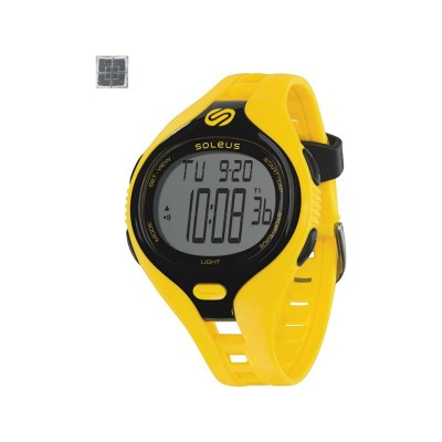 Soleus Dash Large Unisex Sports Watch - Black and Yellow