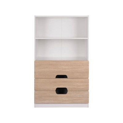 Tolga 3 Drw 2 Shelf Storage Unit Oak