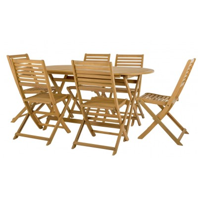 Argos Product Support For Argos Home Newbury 6 Seater Wooden Patio Set Light Wood 328 7930