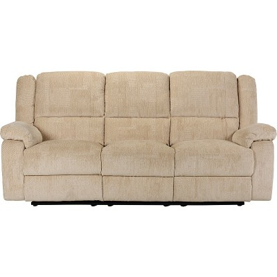 Collection Shelly 3 Seater Manual Recliner Sofa - Natural