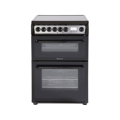 Hotpoint HAE60K Double Electric Cooker - Black