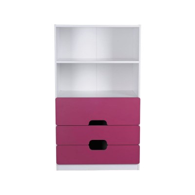 Tolga 3 Drw 2 Shelf Storage Unit Pink