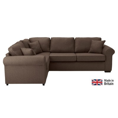 Collection Erinne Fabric Left Hand Corner Sofa - Chocolate