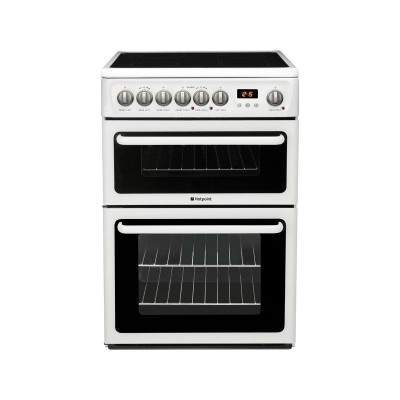Hotpoint HAE60P Double Electric Cooker - White