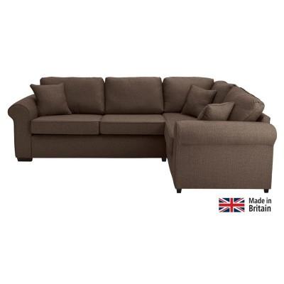 Collection Erinne Fabric Right Hand Corner Sofa - Chocolate
