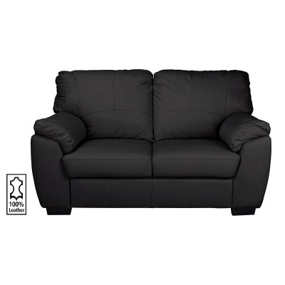 Argos Home Milano 2 Seater Leather Sofa - Black