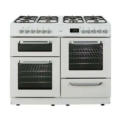 Bush BCLU100DFW Dual Fuel Range Cooker- White/Ins/Del/Rec