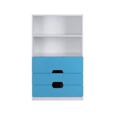 Tolga 3 Drw 2 Shelf Storage Unit Blue