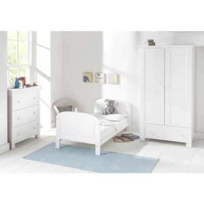 ANGELINA C BED WHITE AND GREY