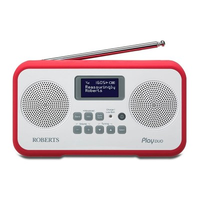 Roberts Radio Play Duo Digital Radio - Red