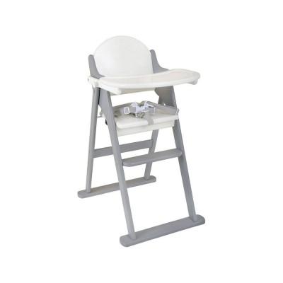 East Coast Nursery Folding Highchair - White and Grey