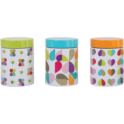 Argos Product Support For Tin Canisters Set Of 3 Teacoffee