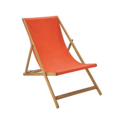 Habitat Maui Prime Deckchair - Orange Red