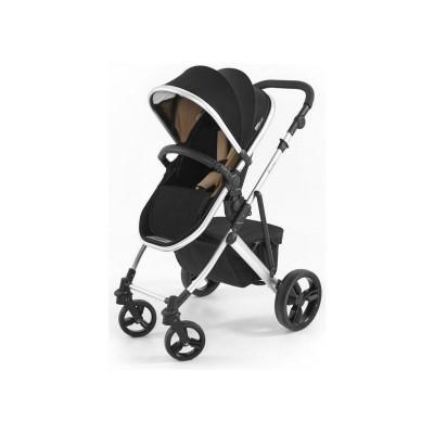 Tutti Bambini Riviera Plus 3in1 Silver Pushchair-Black/Taupe