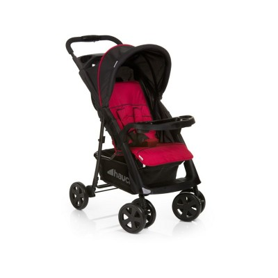 Hauck Shopper Comfortfold Pushchair - Black and Red