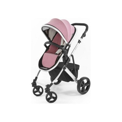 Tutti Bambini Riviera Plus 3in1 Silver Pushchair - Pink/Grey