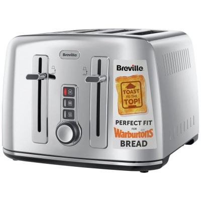 Breville 4 Slice S/Steel Perfect for Warburtons Toaster